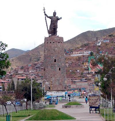 Monumento del Inca Pachacutec « Hotel en Cusco - Yawar..